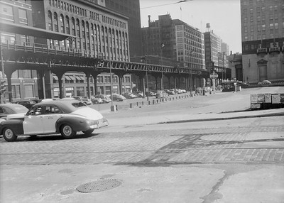 2016.010.FAC5.06703--cole 6x9-12pak neg--Chicago Elevated--old Market St L stub Randolph St station looking south--Chicago IL--1948 0531