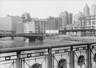 2016.010.FAC5.06694--cole 6x9-12pak neg--Chicago Elevated--old Market St L stub from Washington St bridge looking east--Chicago IL--1948 0531