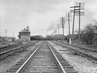 2016.010.FAC5.02009--cole 3x4 neg--NYC--double-headed steam passenger train action at MC interlocking--Porter IN--1921 0320
