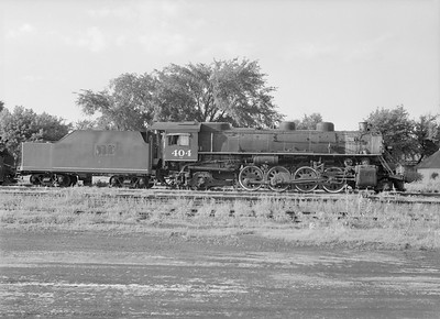 2016.010.FAC5.09848--cole 6x9-12pak neg--GB&W--steam locomotive 2-8-2 404 (retired)--Green Bay WI--1955 0625