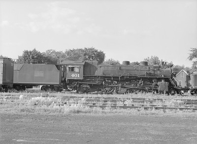 2016.010.FAC5.09845--cole 6x9-12pak neg--GB&W--steam locomotive 2-8-2 401 (retired)--Green Bay WI--1955 0625