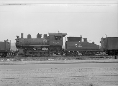 2016.010.FAC5.08537--cole 6x9-12pak neg--WAB--steam locomotive 0-6-0 541 (retired) at C&NW shops--Chicago IL--1953 0503