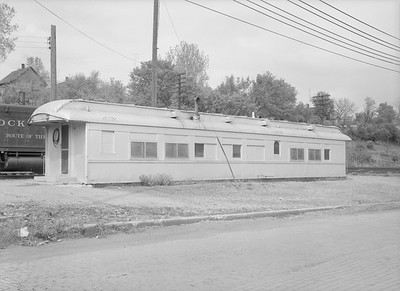 2016.010.FAC3.08850--cole 6x9-8pak neg--CRI&P--carbody used as an office--LaSalle IL--1954 0501