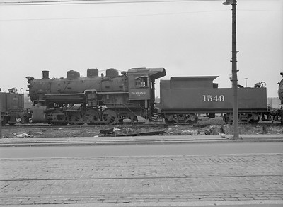 2016.010.FAC5.08536--cole 6x9-12pak neg--WAB--steam locomotive 0-8-0 1549 (retired) at C&NW shops--Chicago IL--1953 0503