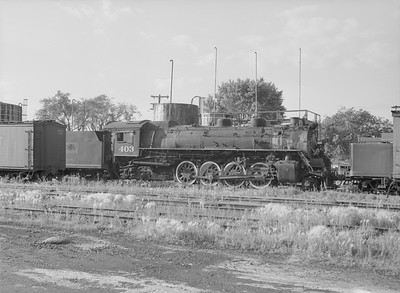 2016.010.FAC5.09847--cole 6x9-12pak neg--GB&W--steam locomotive 2-8-2 403 (retired)--Green Bay WI--1955 0625