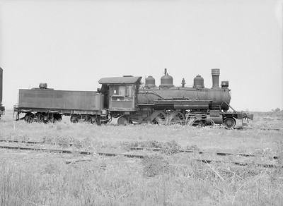 2016.010.FAC5.10219--cole 6x9-12pak neg--Ontonagon Paper--steam locomotive 2-6-2 6 (built by Baldwin 1916)--Ontonagon MI--1956 0611