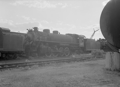 2016.010.FAC5.09850--cole 6x9-12pak neg--GB&W--steam locomotive 2-8-2 405 (retired)--Green Bay WI--1955 0625