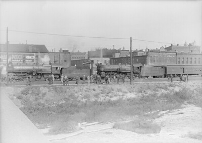 2016.010.FAC5.06461--cole 6x9-12pak neg--PRR--steam locomotive 4-6-2 3378 and 9997 on passenger train at station--Logansport IN--1936 1004