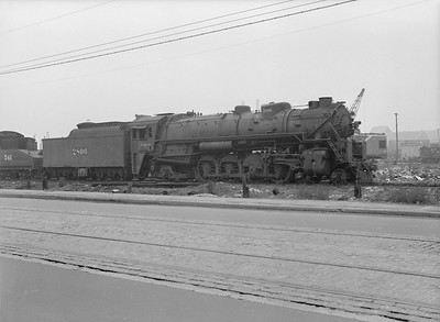 2016.010.FAC5.08538--cole 6x9-12pak neg--WAB--steam locomotive 4-8-2 2806 (retired) at C&NW shops--Chicago IL--1953 0503