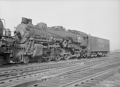 2016.010.FAC5.10041--cole 6x9-12pak neg--AT&SF--steam locomotive 4-6-2 3429 (retired)--Chicago IL (Purdy Plant)--1955 1126