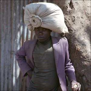 Africa - boy with sack