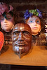 FACES UnMasked masks at Hart Gallery for the September 27 Southside Stroll<br /> Front wooden mask by TommyFrancis