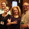 Eli Schott, UnMasked artist Lisa Schott, Karen Gratton and Mark Gratton of Mellow Mushroom.<br /> <br /> photo by Kim Teems