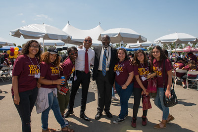 2016 CSUDH Freshman Convocation held in the stub hub tennis stadium on August 26th 2016
