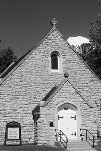 Yellowstone Chapel (B & W)