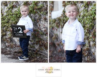 Oliver Brooks Age 2 Collage #1