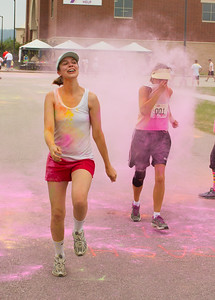 Runners in Color Run,  YMCA Onalaska, Wisconsin, La Crosse County