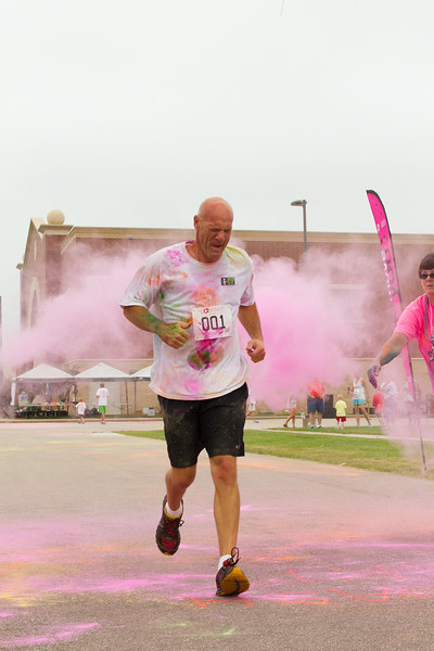 Runners in Color Run,  YMCA Onalaska, Wisconsin, La Crosse County