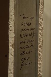 DSCF9836 on the doorway to the nursery/childrens area