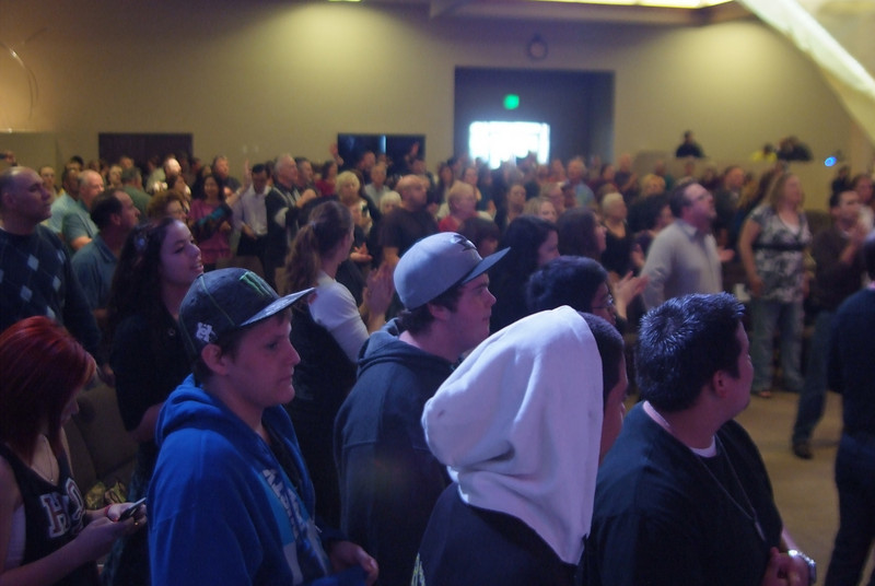 The sanctuary was FULL on our first Sunday! WOW!