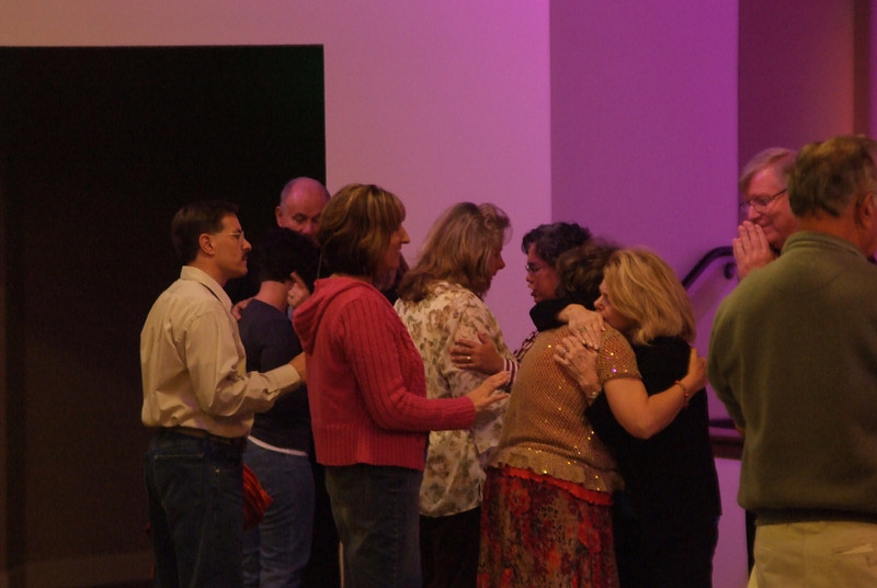 Ministering and praying for needs