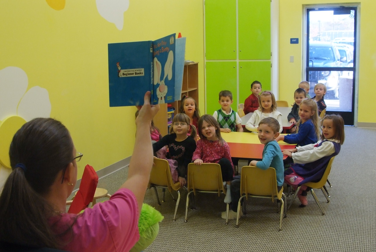 """""""Lil' Warriors"""" ....  Reading to the little ones in the new kids room!"""