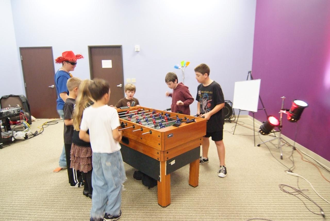 Foosball in the Kids Church room!