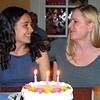 Audrey & Lisa & Their Joint Birthday Cake