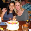Audrey & Lisa With Their Joint Birthday Cake