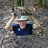 Eric Wright in Vietnam's Cu ChiTunnels