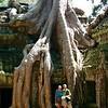 Nancy & Eric at Angkor Tom