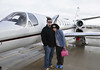 Jessi and Joe's first private jet flight.  Snow stopped and weather clearing just in time.
