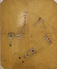 Cartier London 1920, design sketch for Indian/Egyptian jewelry