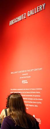 Start of the Cartier exhibit