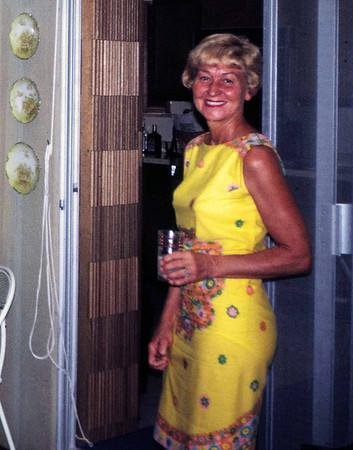 Clara at home in Windsor Gardens, September 1968