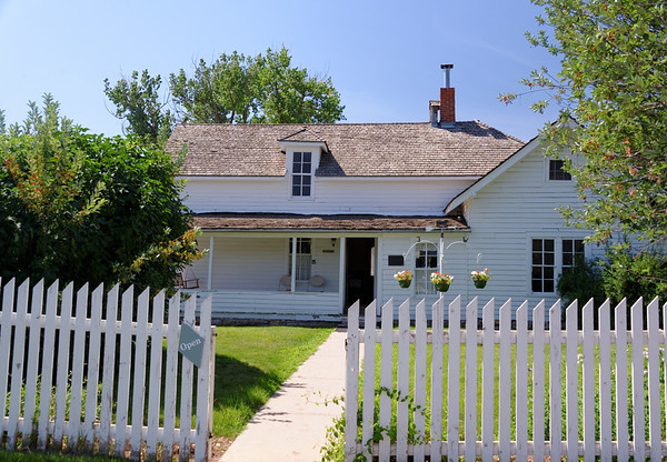 Original log cabin from the 1860s is the section to the right