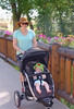 Jessi and Wyatt out for a stroll
