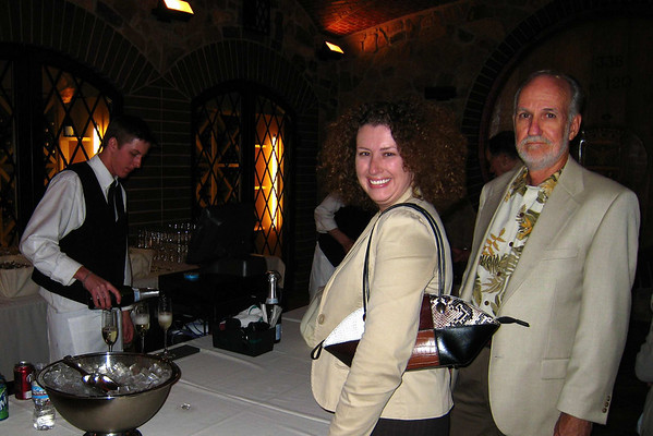 Jessi and yours truly at the DU reception Thursday afternoon, seeing how many free glasses of Champagne we can grab.