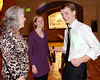 """Chris makes a """"move"""" on the dance floor for mom Sharon and wife Virginia"""