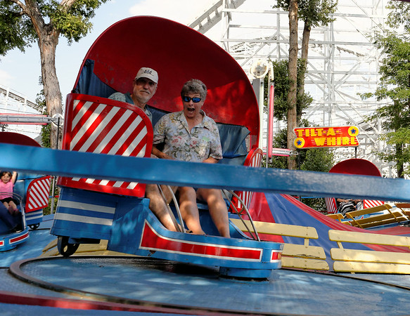 Richard and Suzanne on the Tilt-A-Whirl, part 3