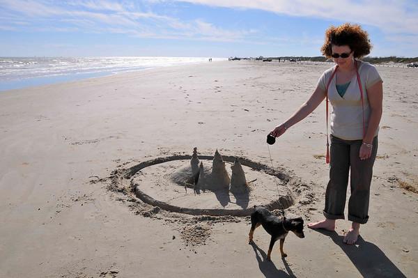 Katie & Glenn's sand castle