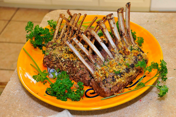 finished rack of lamb