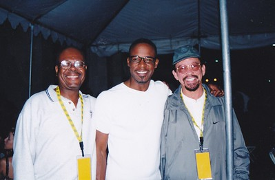 Me, J.T. Taylor (Kool and the Gang) and Milan Williams (Commodores) in LA