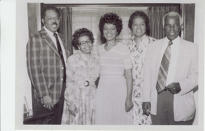 Uncle General, Aunt Clyde, My mom Beatrice, Aunt Theresa, and grandfather, John Bass, grandfather.