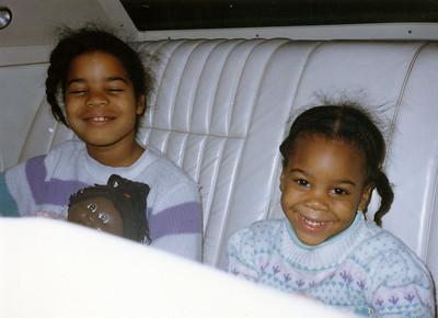 My two daughters, Felicia and Ayiesha.