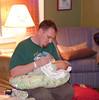 Joe and Wyatt at home