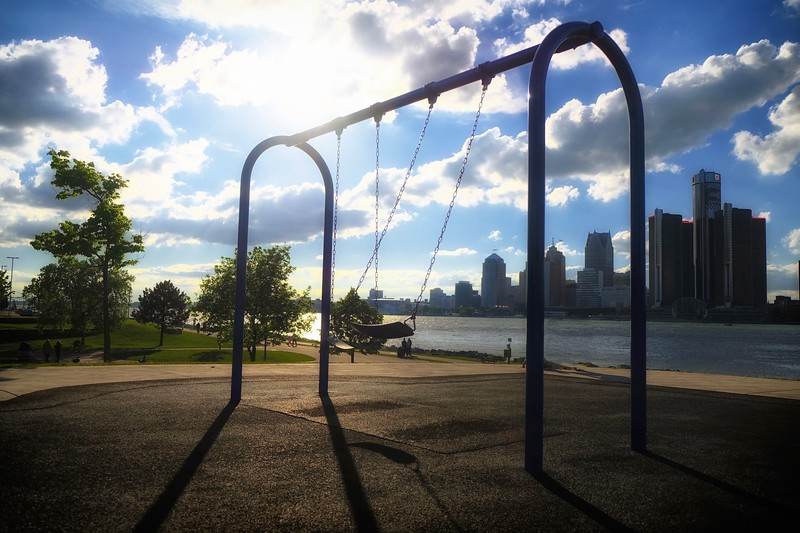 Swings down by the river
