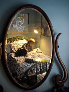CALDER in his room