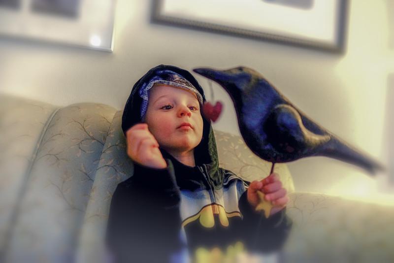 Lucien as Batman