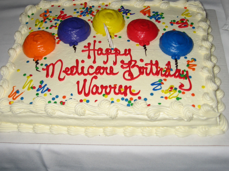 I was so old I had trouble chewing my cake!